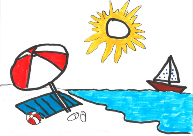 Relaxt genießt auch Johann die Sonne am Meer