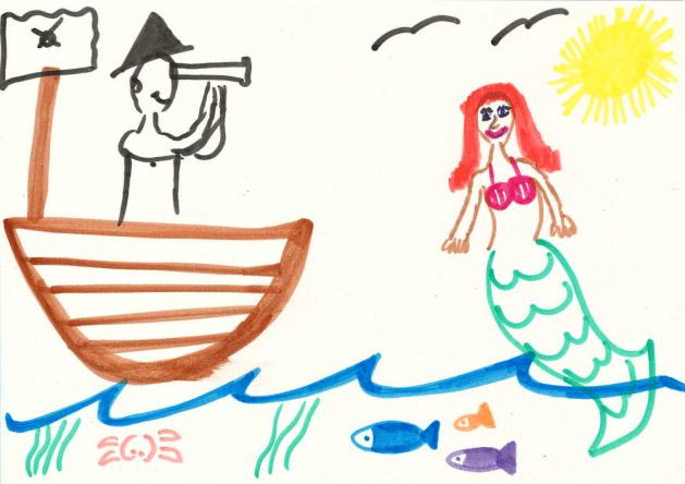 Yasemin als Arielle in der Karibik