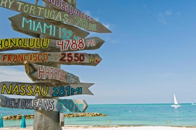 Der Weg ist das Ziel...so weit ist es von Key West zu weiteren Traumreise-Zielen.