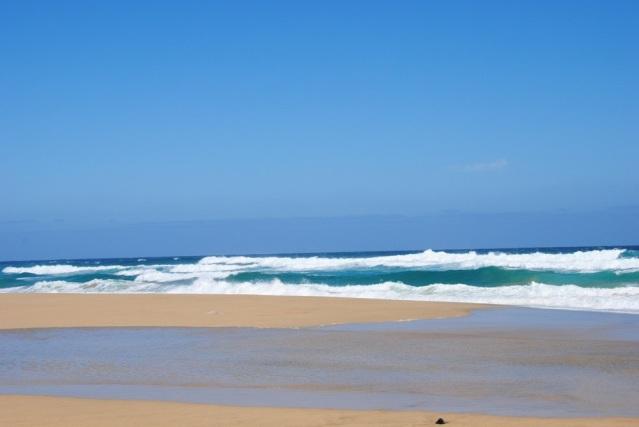 Wellen am Strand von Cofete