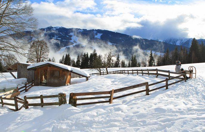 Schnee-Idylle in Ramsau