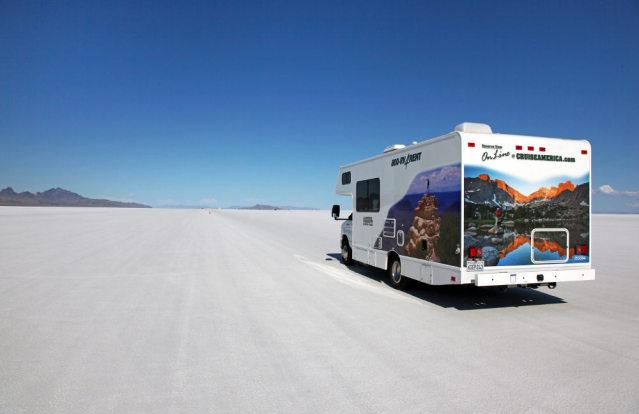 Camper in der Salzwüste