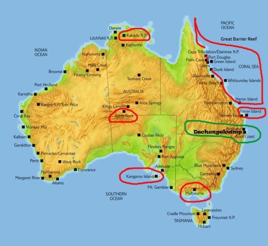 Australien Landkarte