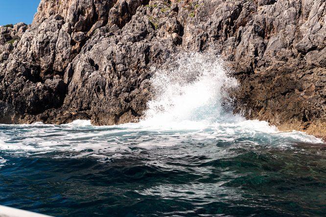 Meeresbrandung Korfu