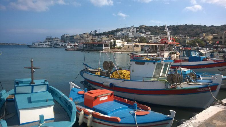 Elounda Hafen Fischerboote