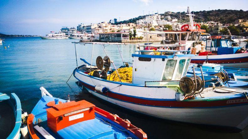 Fischerboote Elounda Kreta