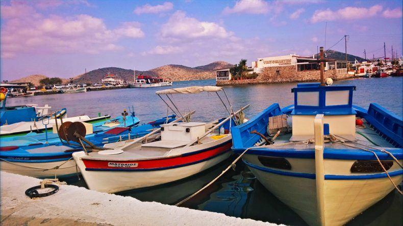 Elounda Hafen