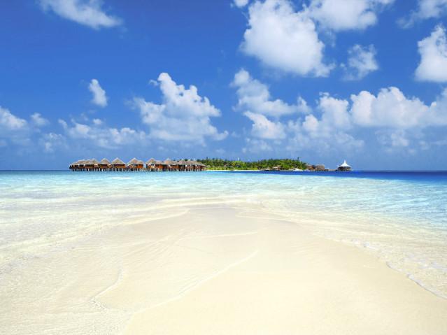 Blick auf die Malediven Insel