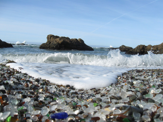 Der Glass Beach in Fort Bragg