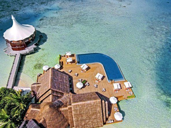 Das Baros Maldives von oben