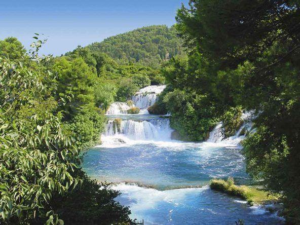 Wunderschöne Krk Wasserfälle in Kroatien