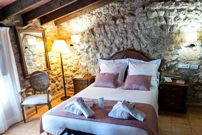 Zimmer Hauptgebäude Wasserrad im Viverde Sa Bassa Rotja Mallorca