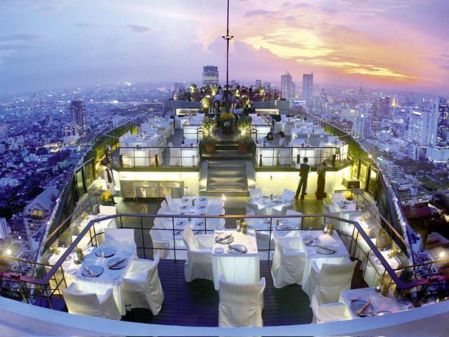 """Das Prunkstück des Banyan Tree: Das Openair-Rooftop-Restaurant """"Vertigo"""""""