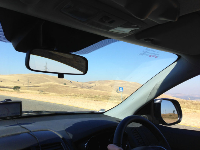 Blick aus dem Mietwagen