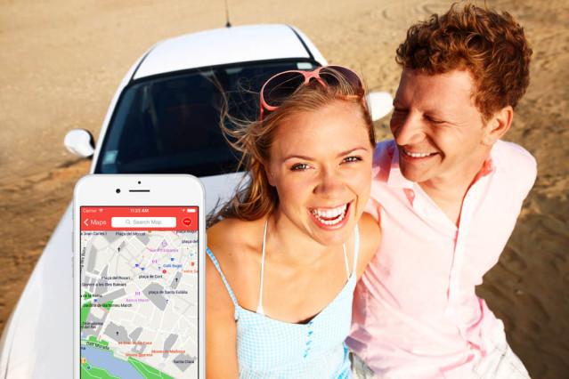 Mobile Landkarten App