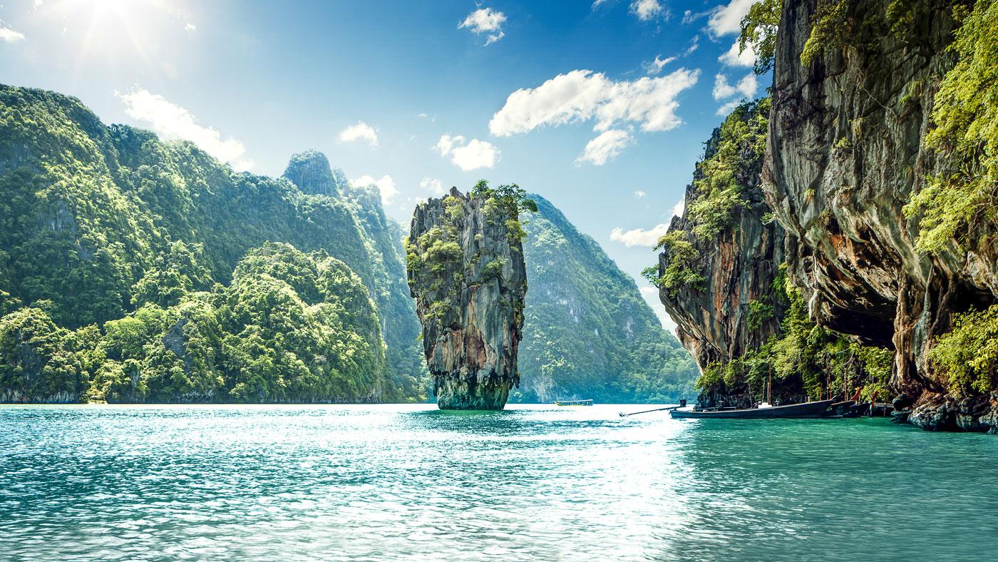 Traumkulisse: Die Bucht Phang Nga Bay in Südthailand