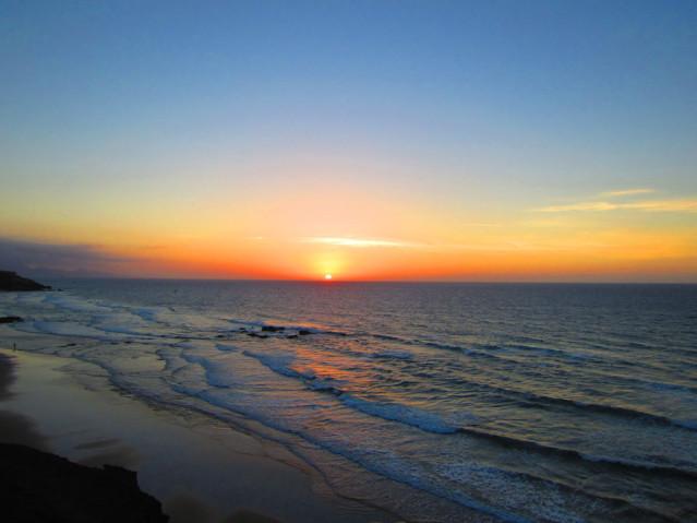 romantischer Sonnenuntergang