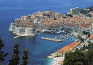 Idyllische Felslandschaft in Kroatiens wunderschöner Stadt Dubrovnik