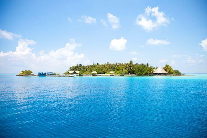 Malediven Insel Makunudu