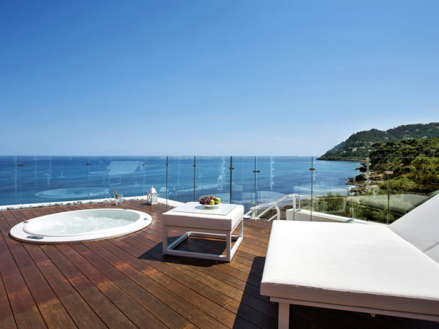 Whirlpool im Zimmer: Melbeach Hotel auf Mallorca