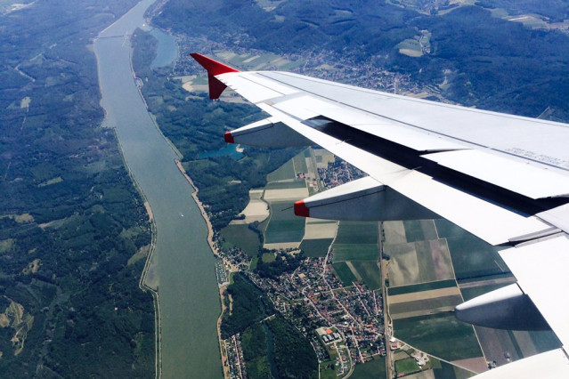 Wien von oben / Flugzeug