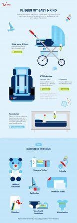 Infografik Fliegen mit Baby