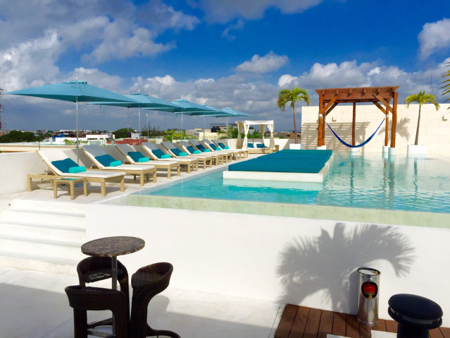 Rooftopbar des The Palm at Playa in Cancun
