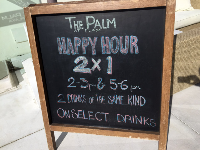 Cocktail Happy Hour The Palm at Playa Mexiko
