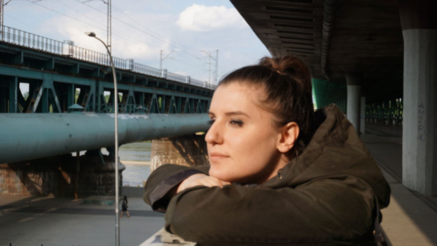 Die Bahnstation an der Weichsel in Warschau, deren Namen ich vergessen habe
