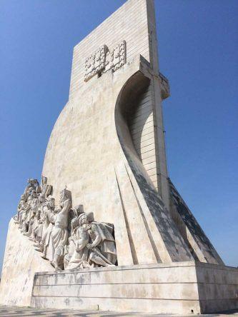 Das Denkmal der Entdeckungen: Padrão dos Descobrimentos ebenfalls in Belém