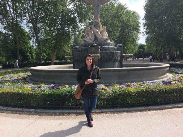 Der Galapagosbrunnen im Retiro Park Madrid