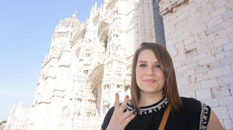 Vor dem Kloster musste ich natürlich auch nochmal posieren :-)
