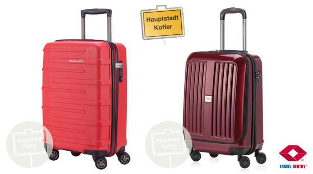 Diese Preise warten auf euch: Ein 37 Liter Hartschalenkoffer in Rot und ein 42 Liter Hartschalenkoffer in Hochglanz-von Hauptstadtkoffer