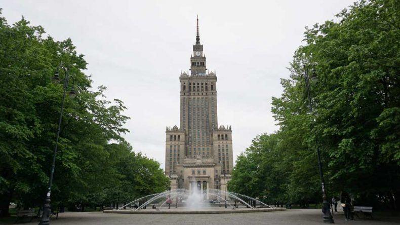 Der imposante Kulturpalast in Warschau