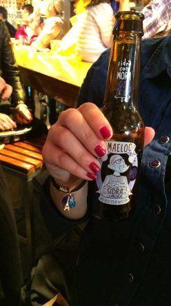 Kein San Miguel für mich, dafür gab es ein Maeloc Cider Bier mit Brombeere-Geschmack