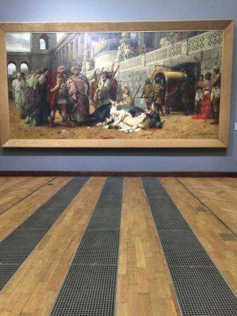Eines der größten Gemälde im Nationalmuseum Warschau