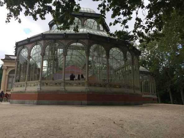 Entdeckt im Retiro Park habe ich den wunderschönen Palacio de Cristal