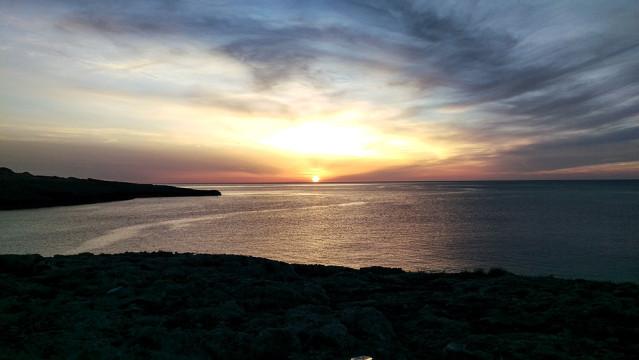 Sonnenuntergang Portinatx Landzunge
