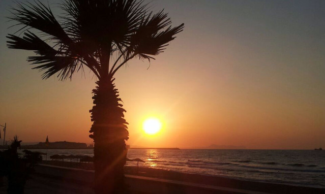 Sonnenuntregang Rethymnon Kreta
