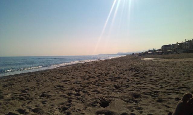 Strand von Rethymnon Kreta