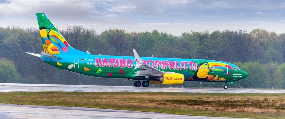 Tropifrutti Haribo Flugzeug