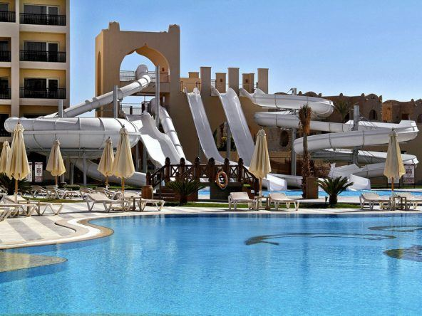 Das Badeparadies im Steigenberger Aqua Magic in Hurghada, Ägypten