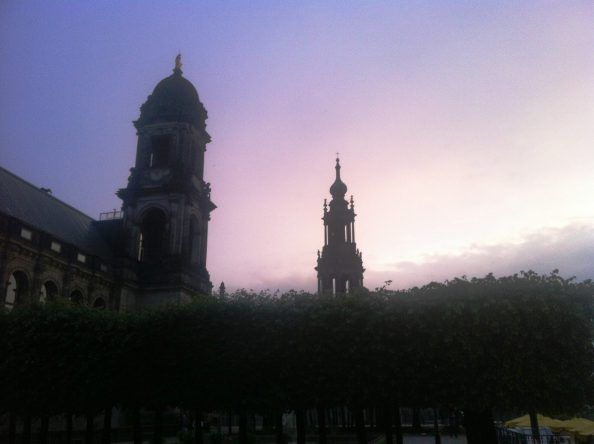 Dresden im Sonnenuntergang