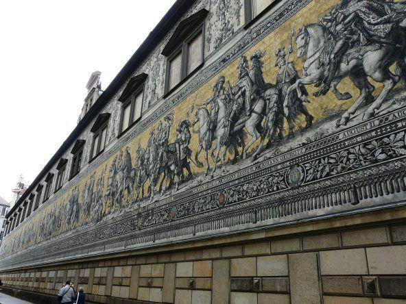 Der Fürstenzug am Residenzschloss