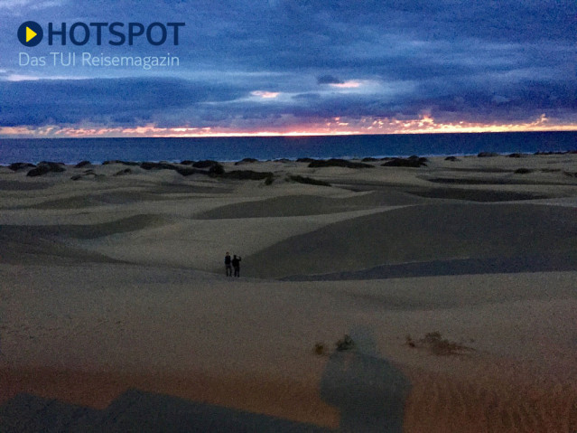 Der Frühe Vogel Ist Auch Dabei Sonnenaufgang Auf Gran Canaria Tui