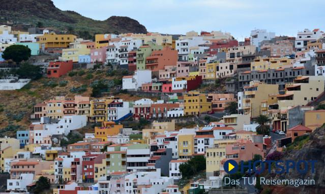 La Gomera bunte Häuser San Sebastian