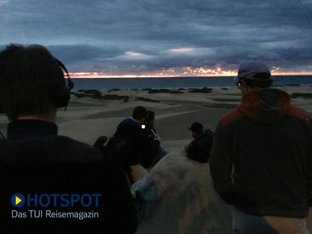 Sonnenaufgang Dünen Maspalomas