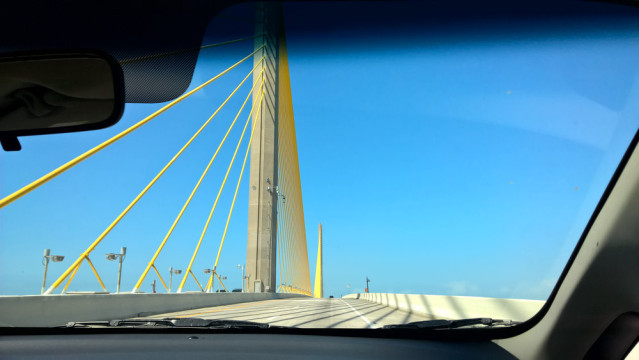 Sunshine Skyway Bridge Florida Mietwagen