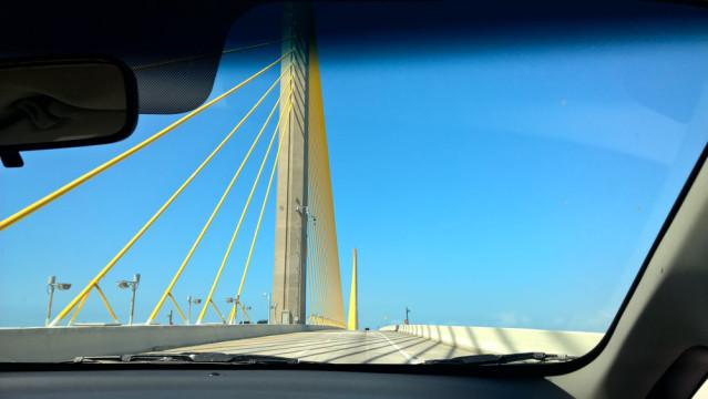 Sunshine Skyway Bridge Florida Mietwagen