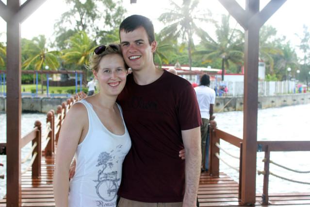 Kim und ihr Freund auf Entdeckungsreise durch Mauritius